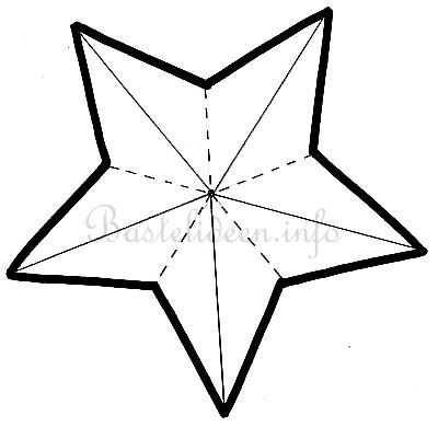 Kostenlose Bastelvorlage Stern 01 Sterne Basteln Vorlage
