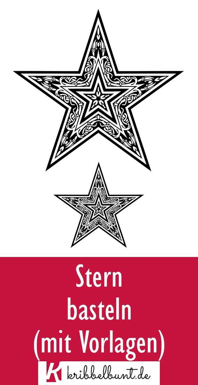 Stern Vorlage In 2020 Sterne Basteln Mit Kindern Sterne Basteln