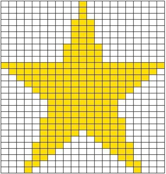 Strick Zahlmuster Fur Einen Stern Muster Stricken Hakeln Muster