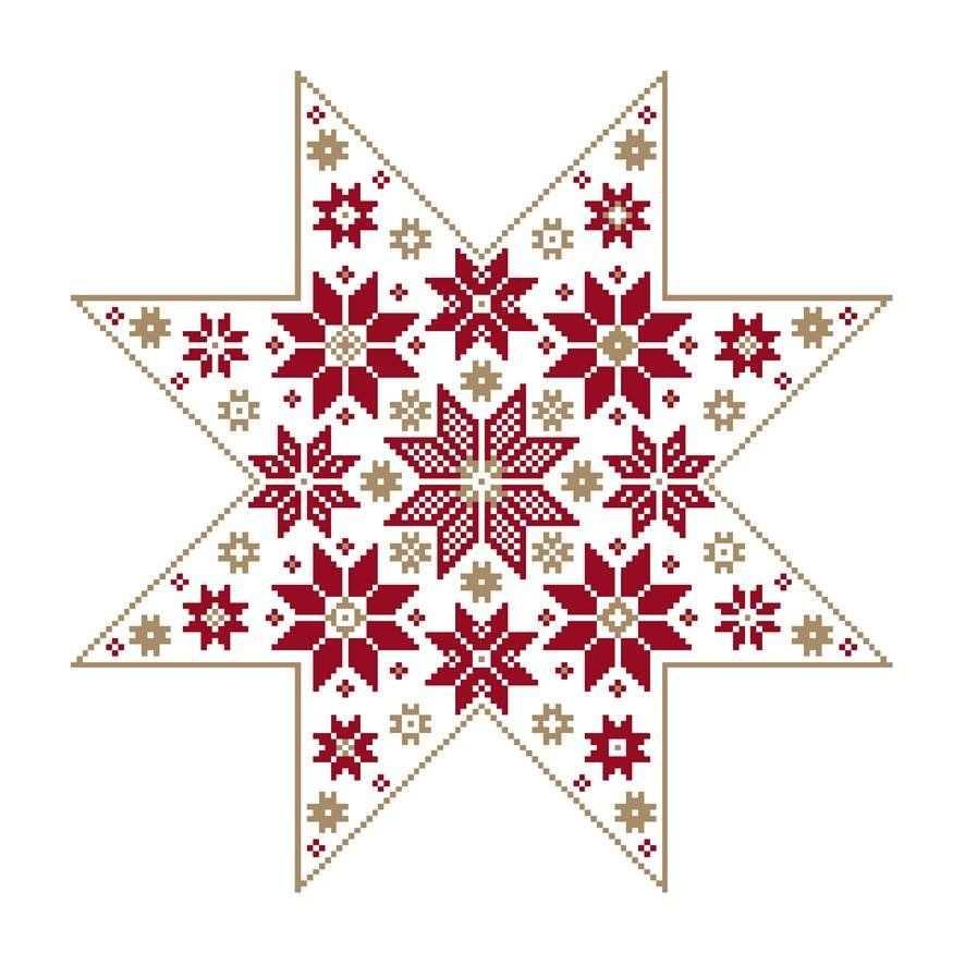 Unisono Stickvorlagen Stern Designs Weihnachten Kreuzstich