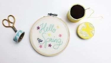 Hello Spring Stickbild Mit Vorlage Stickbilder Vorlagen Und