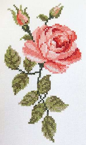 Kreuzstich Rose Kreuzstichblumen Kreuzstich Sticken Kreuzstich