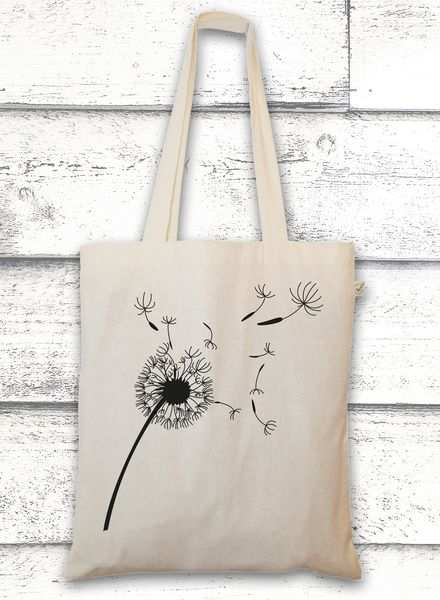 Jutebeutel Mit Pusteblume Bag With A Flower By Greenvision Via