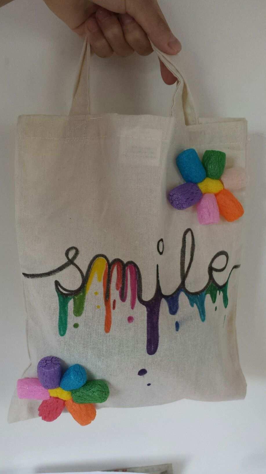 Beutel Selbst Bemalen Tasche Selbst Gestalten Taschen Stofftaschen