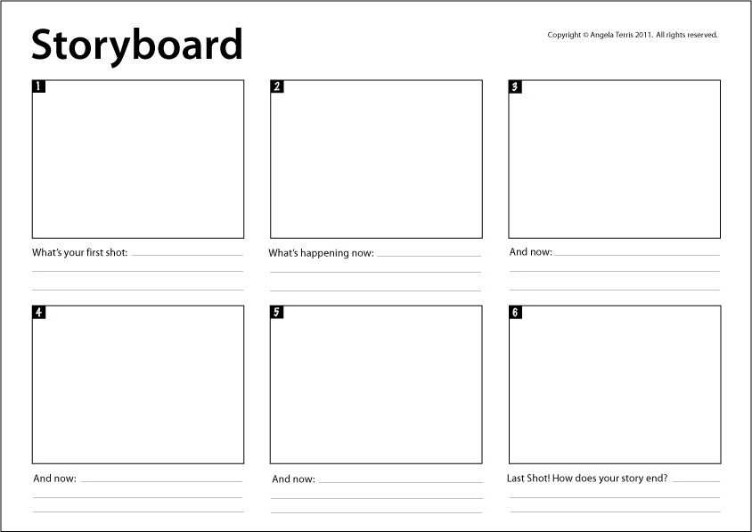 Storyboard Template Really Useful For Mapping Animating