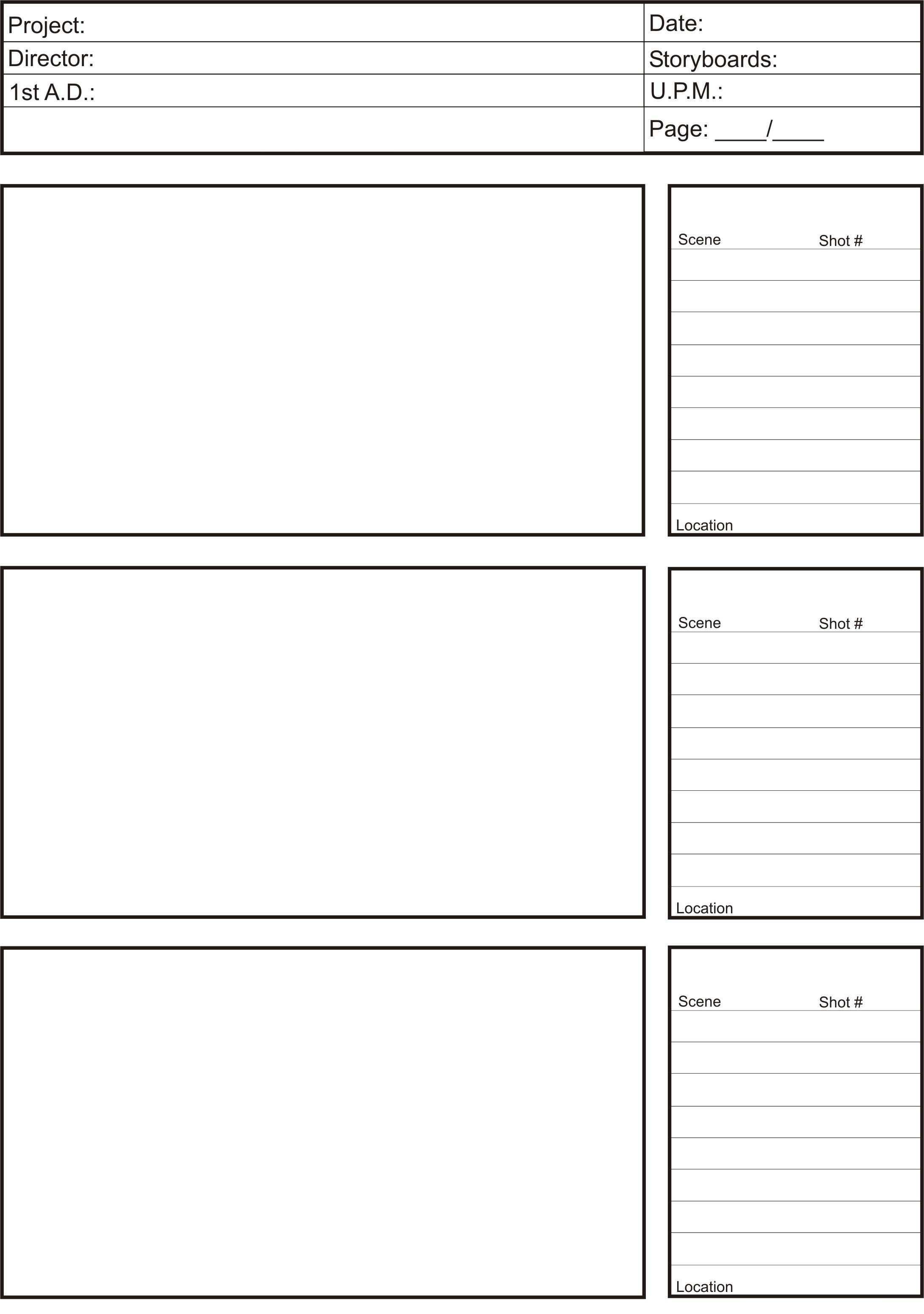 Storyboard Shots Jpg 2 179 3 099 Pixels Storyboard Template