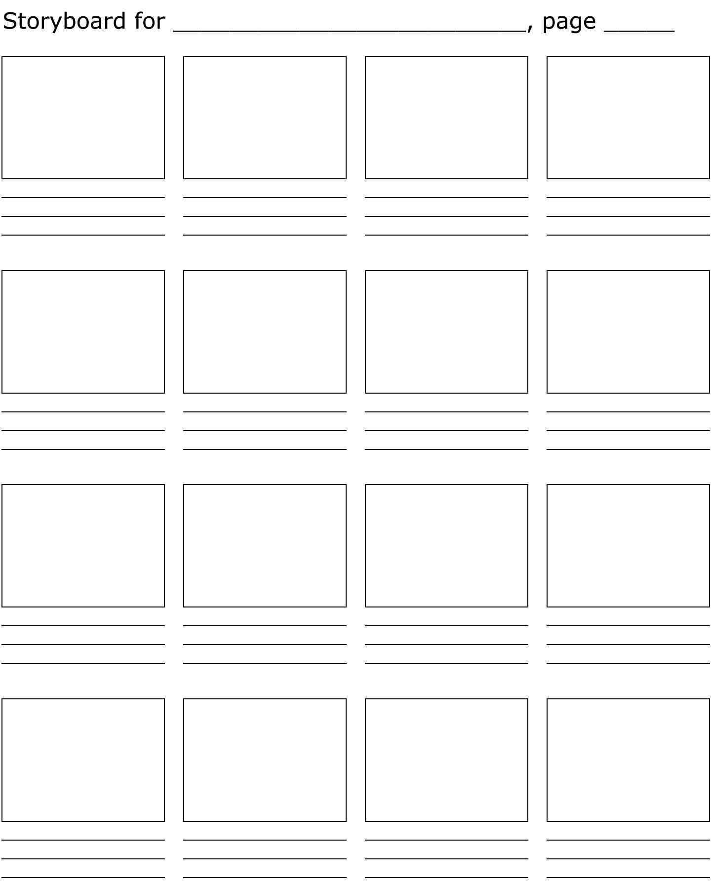 Storyboard Template Storyboard Template Storyboard Storyboard