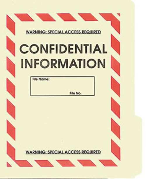 Confidential File Folder 5 Pack Karneval