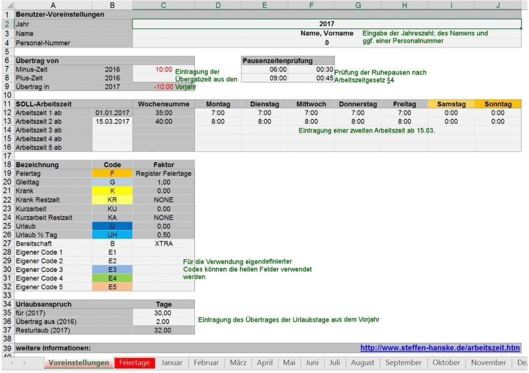 Arbeitszeiterfassung Fur Excel Download Kostenlos Chip