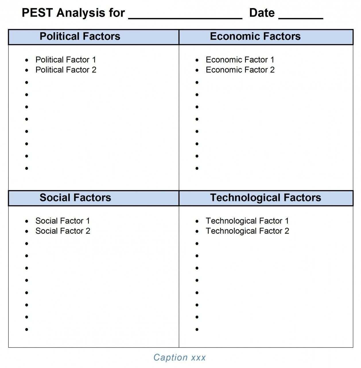 Pest Analysis Ms Word Template Word Template Pestel Analysis