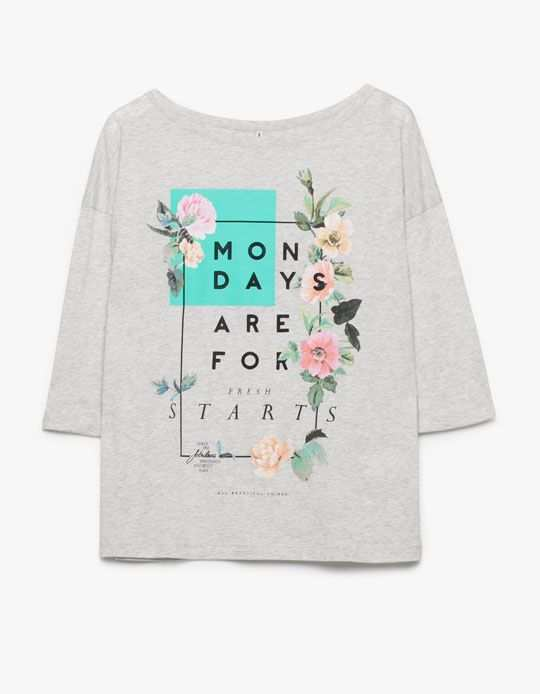 Stradivarius Shirt Mit Textmotiv Shirt Design Inspiration Shirt