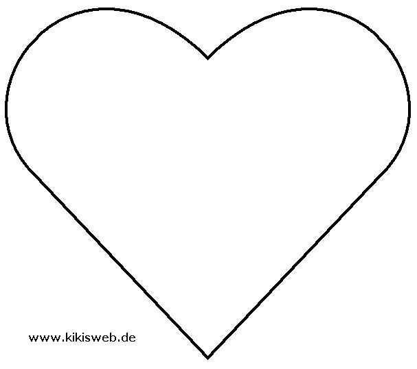 Vorlage Herzen Herz Vorlage Schablonen Vorlagen Herzschablone