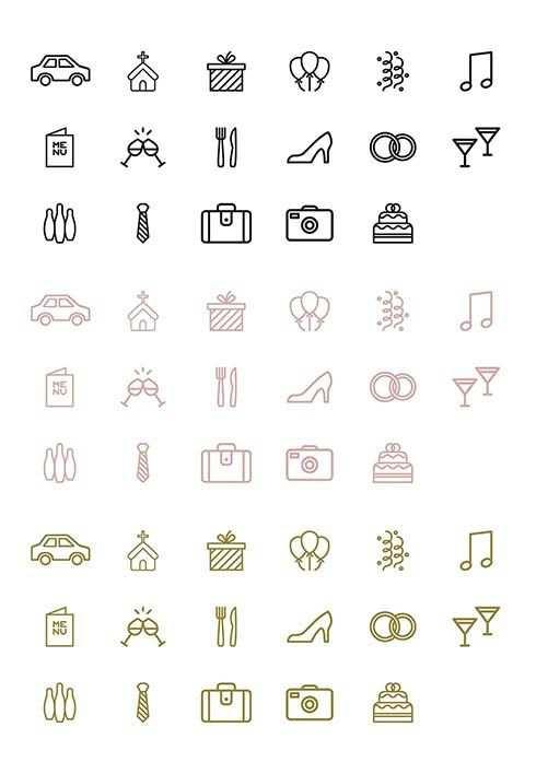 Timeline Hochzeit Icons Symbole Und Vorlage Zum Download
