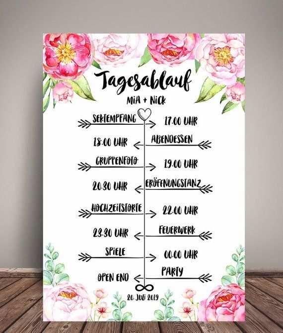 Tagesablauf Hochzeit Plan Ubersicht Fur Die Gaste