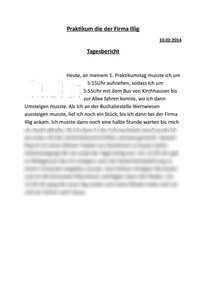 Tagesberichte Mechatroniker Prakitkumsbericht Praktikumsbericht