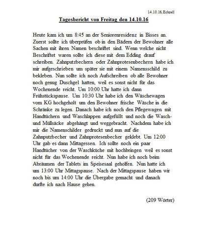 9 Wochenbericht Praktikum Kindergarten Vorlage Elwash