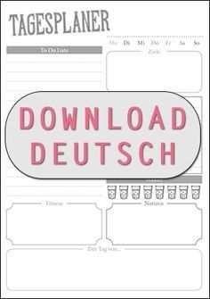 Tagesplaner Zum Kostenlosen Download Fur Alle Filofaxer Paper