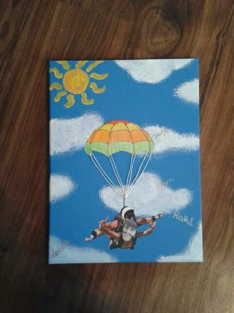 Fallschirmsprung Gutschein Parachute Coupon Birthday Gift