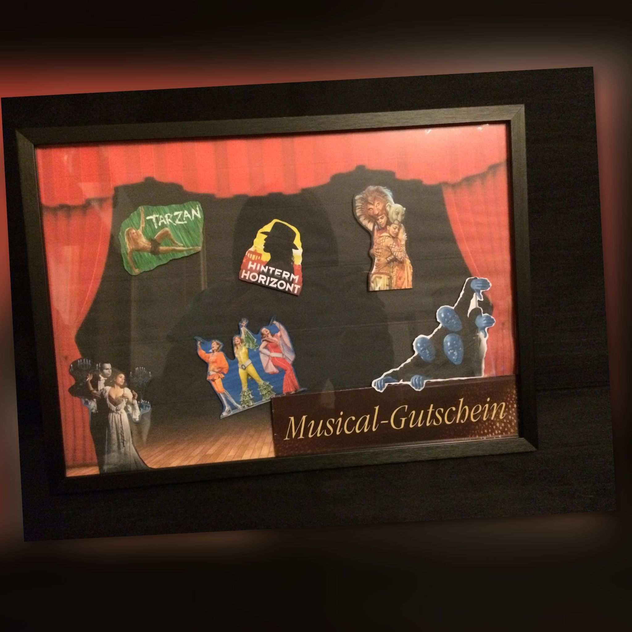 Geschenk Musicalgutschein Gutschein Bilderrahmen
