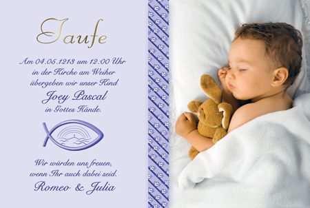 Einladung Zur Taufe Die Fotokarten Werden Von Uns Mit Einer