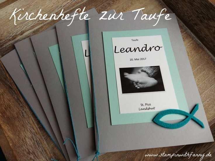 Stampinwithfanny Stampin Up Kirchenbroschure Taufe Broschure Thema Fisch Stampin In 2020 Taufe Einladungskarten Taufe Zur Taufe