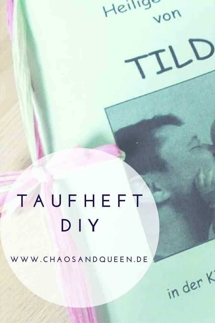 Taufheft Diy In 2020 Mit Bildern Zur Taufe Taufe Feier Taufe