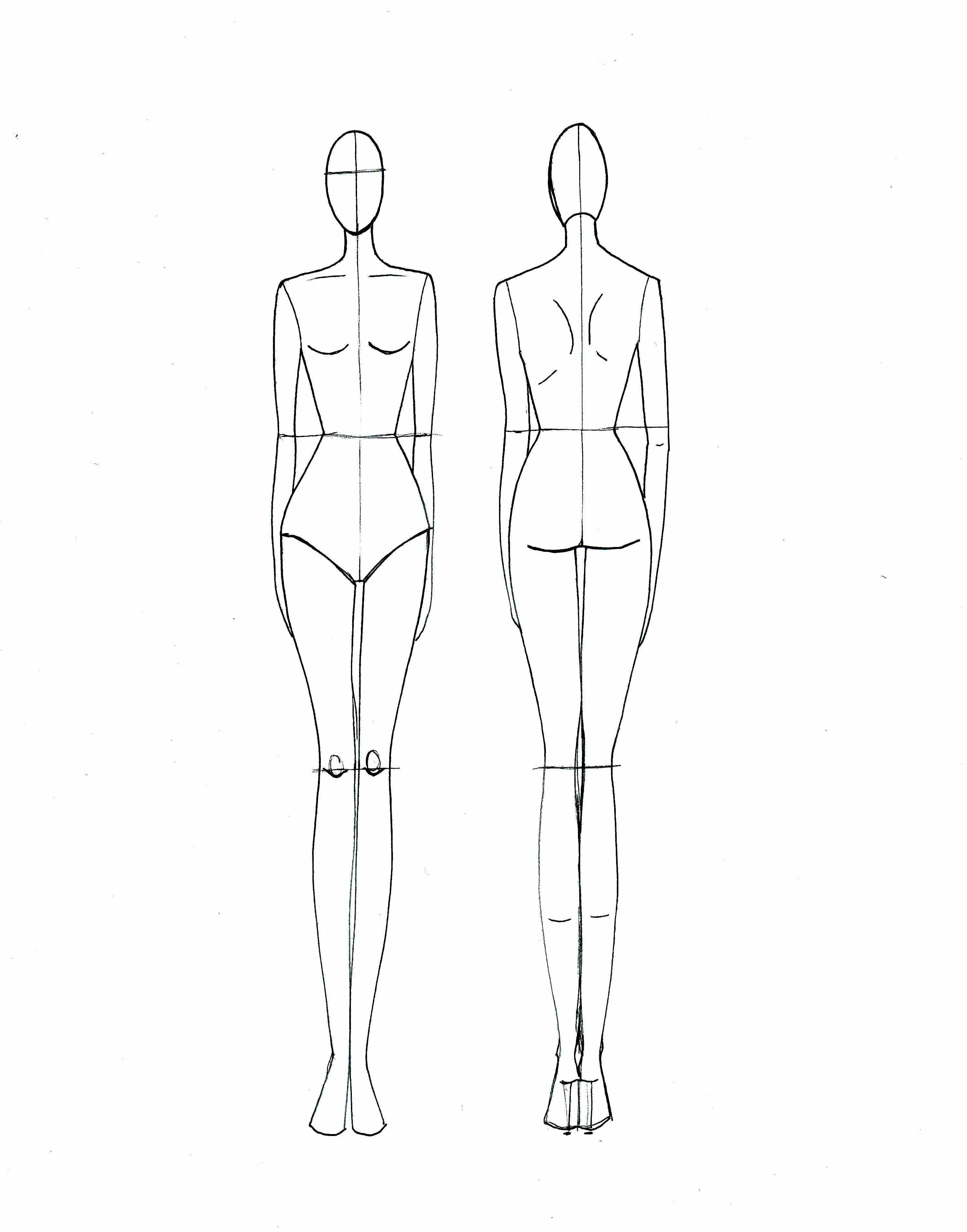 Fashion Sketch Templates Mode Design Vorlage Designs Zeichnen