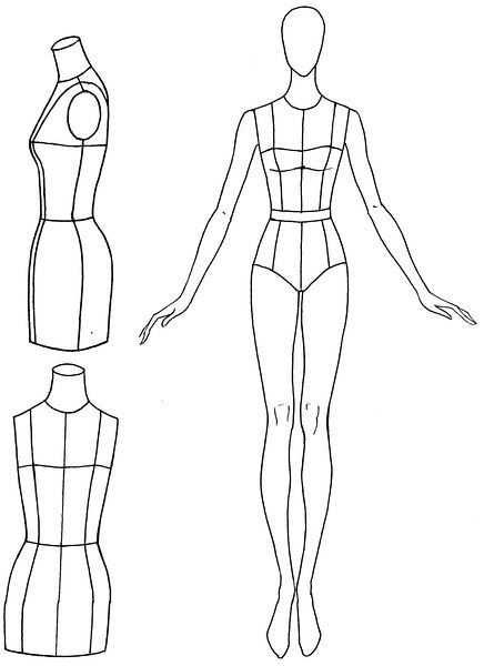 Vorlage Fur Modezeichnungen Zum Planen Fur Nahprojekte Croquis