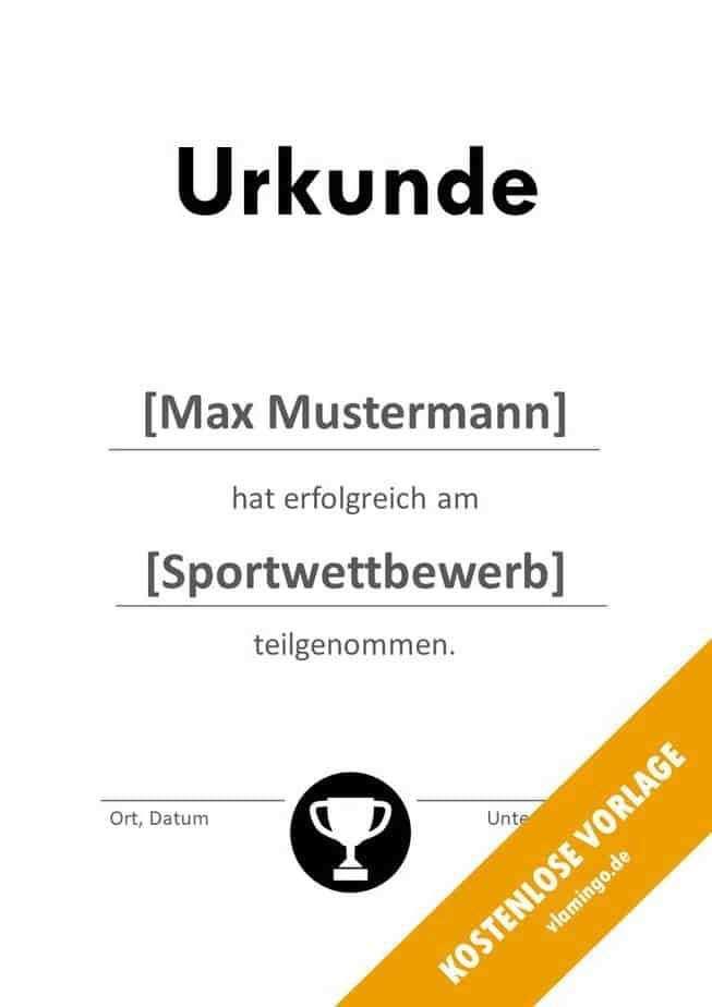 Urkunden Vorlagen Urkunde Vorlagen Sport