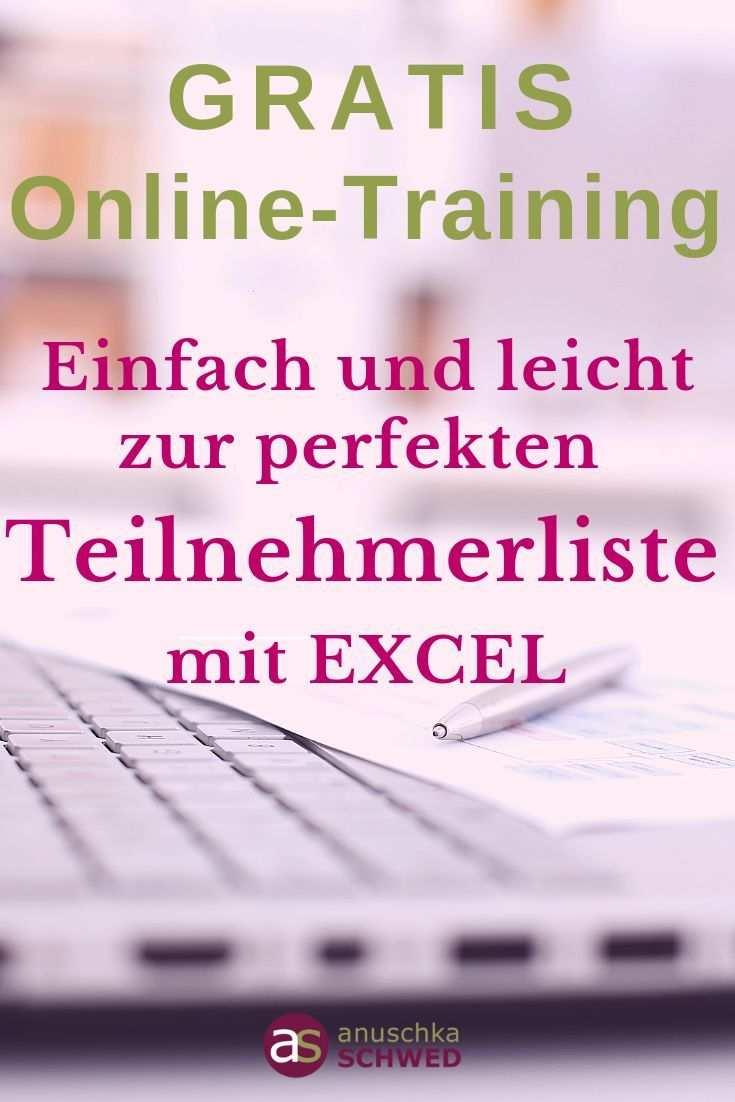 Einfach Und Leicht Zur Perfekten Teilnehmerliste Mit Excel Das