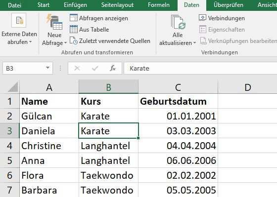 Excel Sortieren Tabelle Nach Text Zahlen Und Mehr In Sortieren