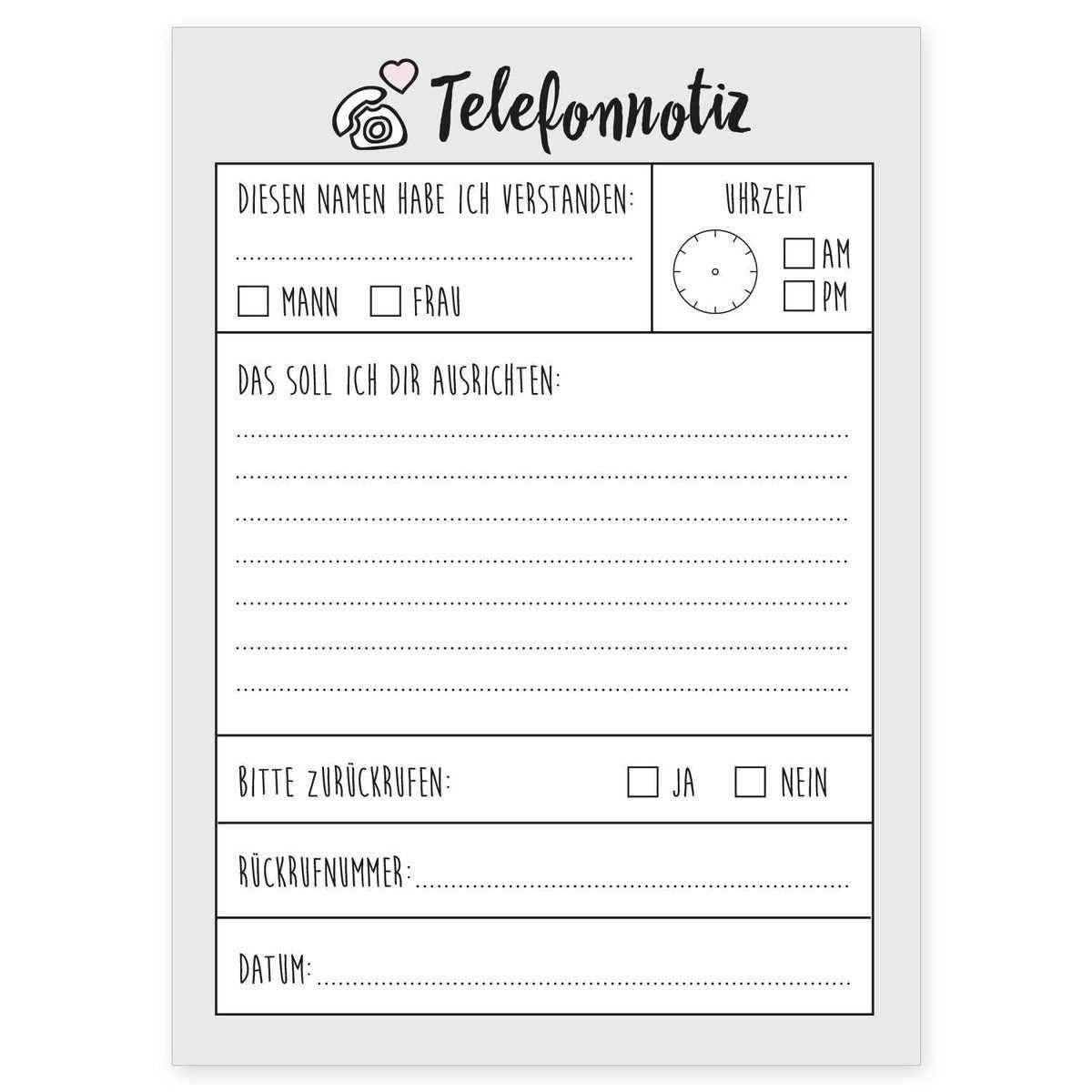 Der Telefonnotiz Block Ist Dein Neuer Alltagsheld Im Buro