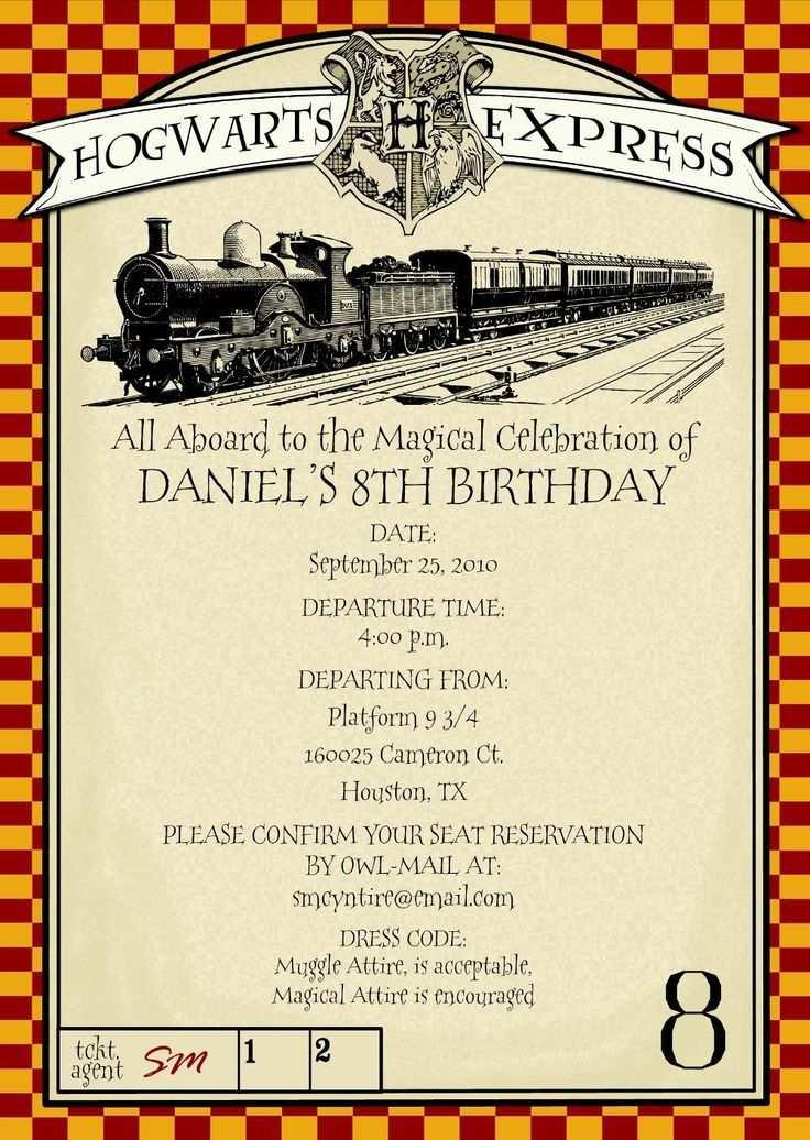Die Einladungen Fur Deinen Harry Potter Kindergeburtstag Muss