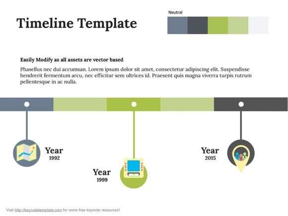 Timeline Free Keynote Template Keynote Template Keynote