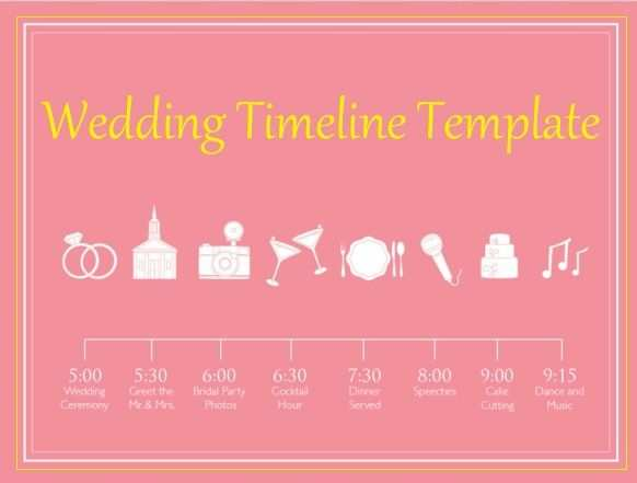 4 Wedding Timeline Template Wedding Timeline Template Wedding