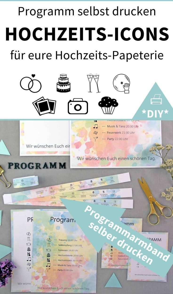 Farbenfreude 182 Word Vorlagen Zum Ausdrucken Diy Hochzeit