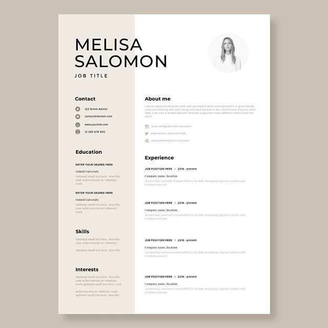 Creative Resume Vorlage In Microsoft Word Lebenslauf Mit Modernem