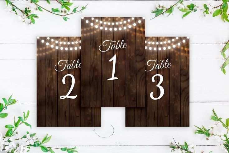 Rustikale Hochzeit Tischnummern Hochzeit Zeichen Dekor Vorlage