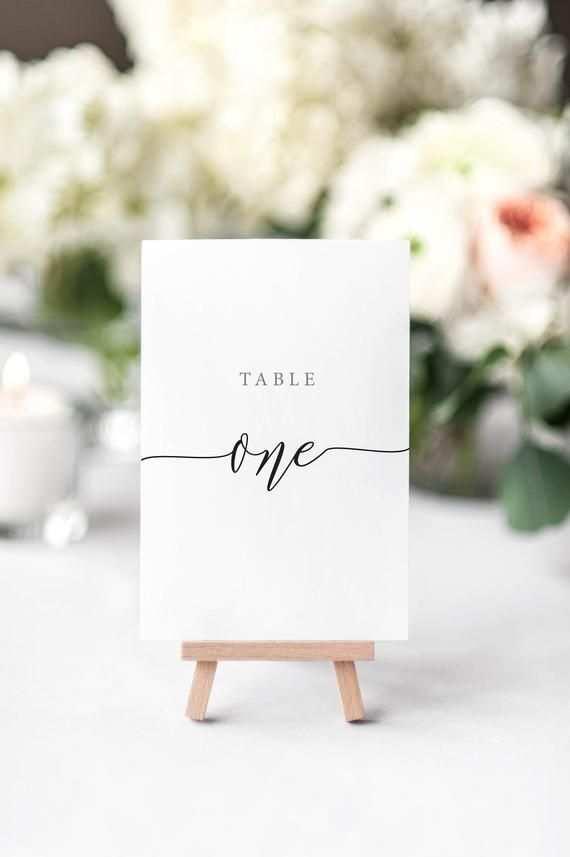 Rustikale Eleganz Tischnummern Diy Druckbare Hochzeit