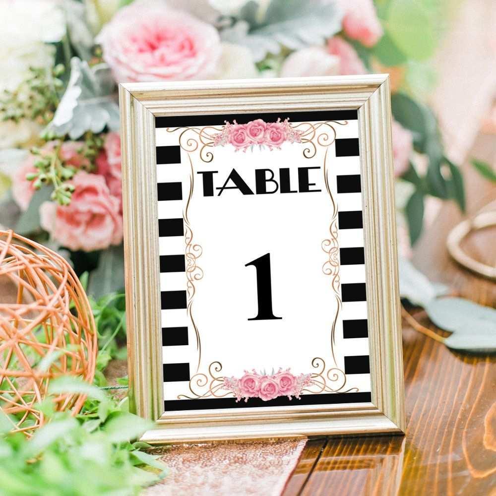 Tischnummern Hochzeit Beschreibbare Pdf Vorlage Druckbare