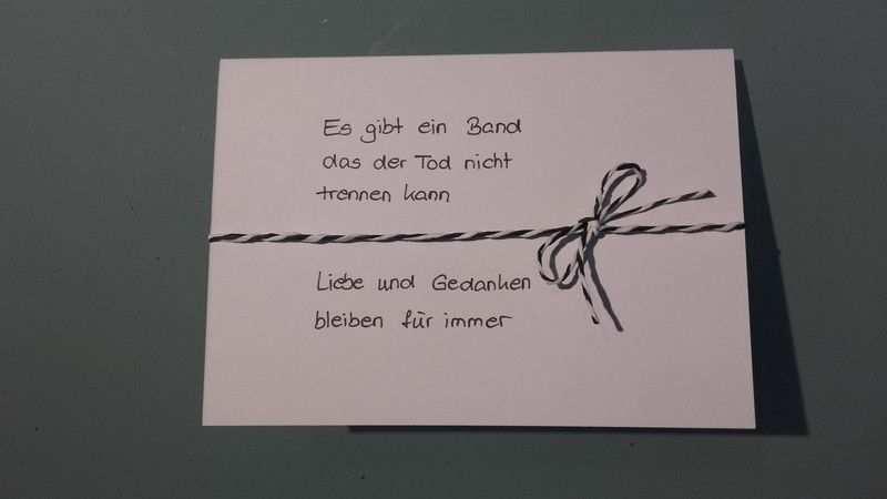 Trauer Beileid Trauerkarte Ein Designerstuck Von Karten