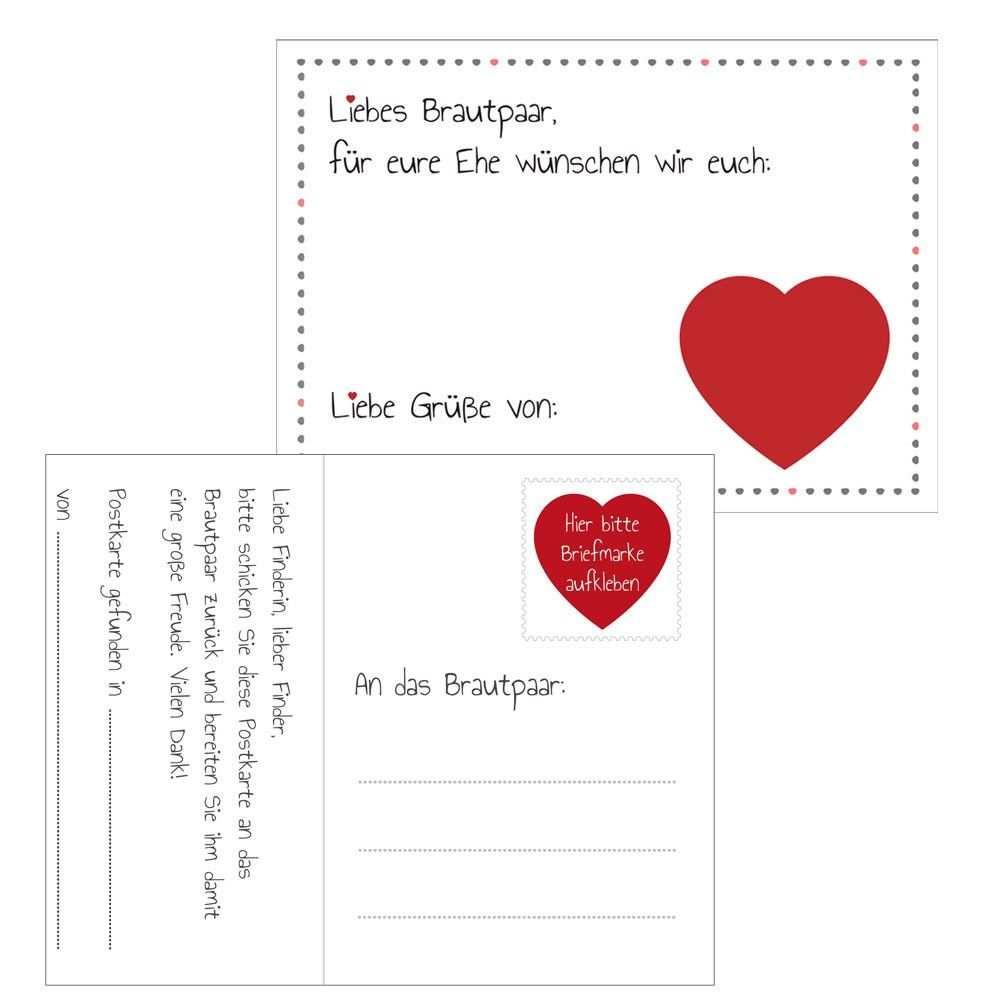 Ballonflugkarten Herz Mit Bildern Hochzeit Spiele