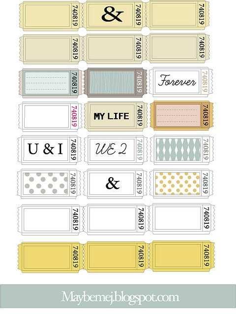 Freebie Maybemejtickets Werbeideen Ticket Vorlage Und Etiketten