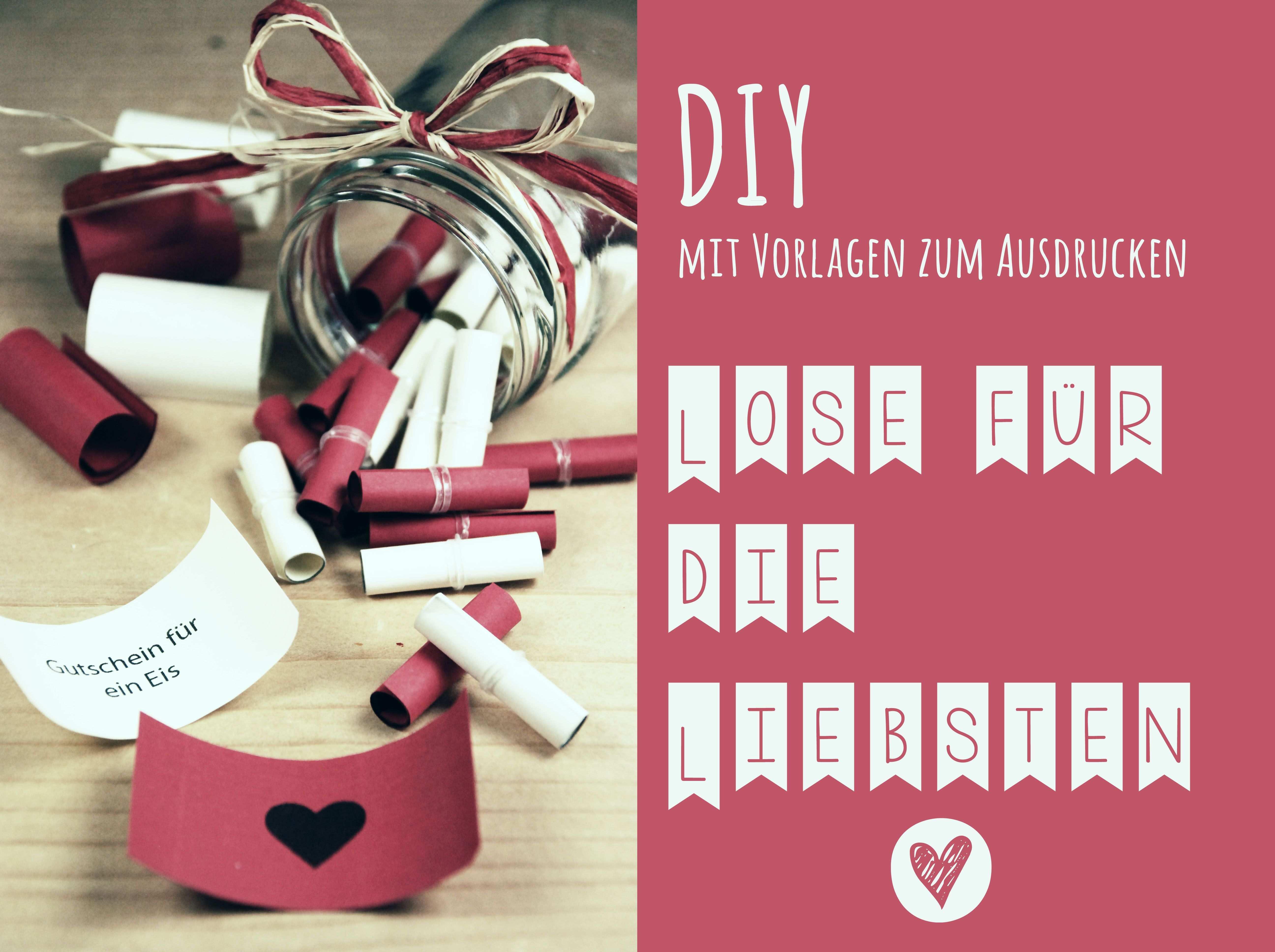 Diy Lose Fur Die Liebsten Valentinstag Geschenk Fur Ihn