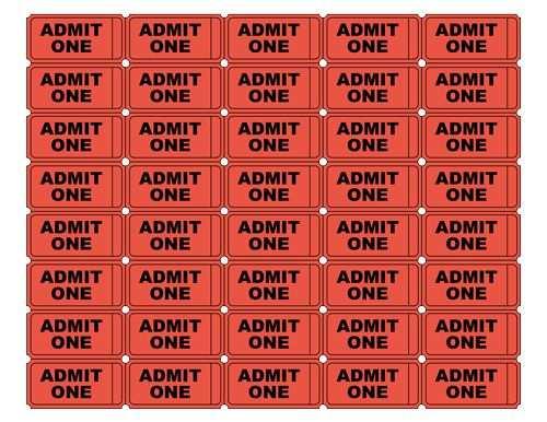 Free Admit One Tickets Ticket Vorlage Teenager Geburtstag Und E