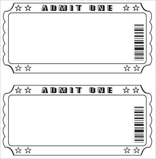 Free Raffle Ticket Template Raffle Ticket Template Free Ticket