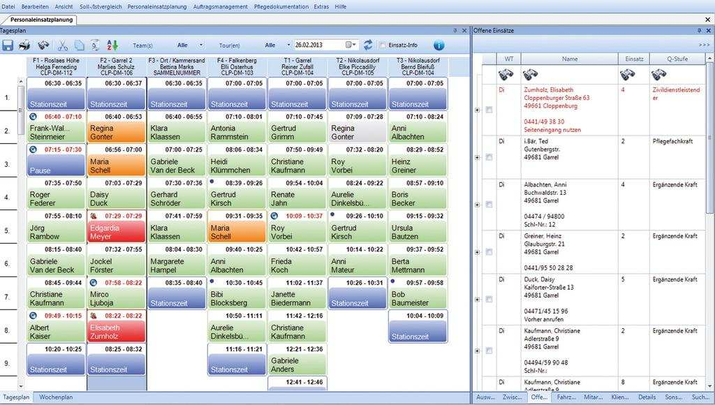 Touren Und Personaleinsatzplanung Pdf Kostenfreier Download