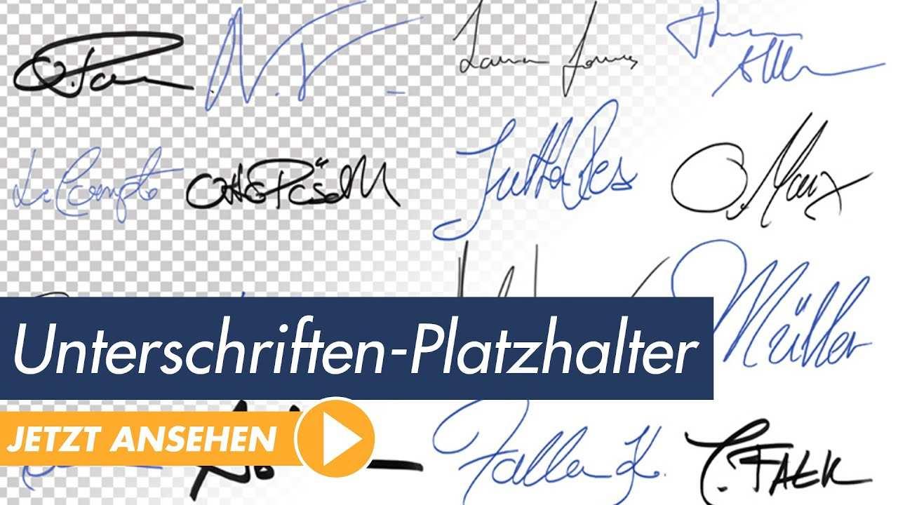 Das Grosse Unterschriften Und Signaturenpaket Trailer Youtube