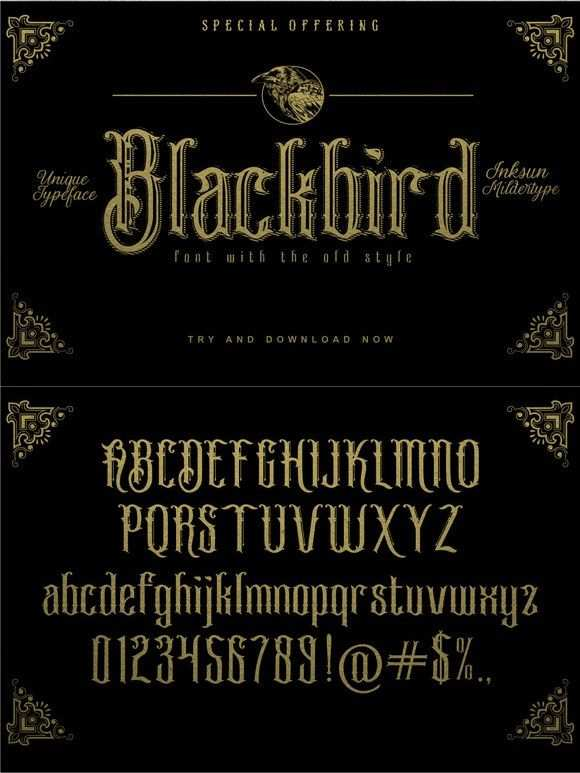 Blackbird Blackletter Fonts 8 00 Schriftarten