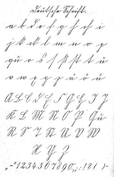The German Script Deutsche Schrift Einfuhrung Einheitlicher